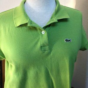 Women's Lacoste Polo Shirt Size 44 Apple Green
